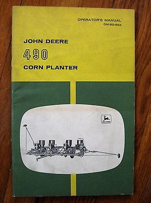John Deere 490 Corn Planter Operators manual ORIGINAL
