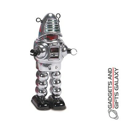 CHROME PLANET ROBBY THE ROBOT COLLECTIBLE TIN FIGURE collectors gift novelty