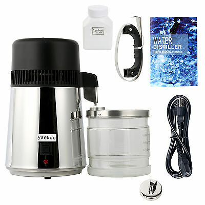 1Gal 4L Pure Water Distiller, All Stainless Steel Internal, Medical Home-8011-Bl