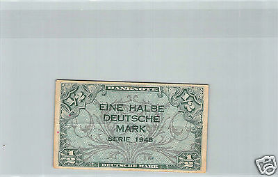 ALLEMAGNE 1/2 DEUTSCHE MARK SERIE 1948 PICK 1a N°1