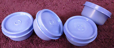 Tupperware - Smidgets - FOUR Round Mini PURPLE Containers - 30ml - Multi-purpose