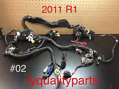 09 14 yamaha yzf r1 yzf r1 oem wiring harness no cuts no damage 09 11 yamaha yzf r1 main engine wiring harness motor wire loom yzfr1 oem