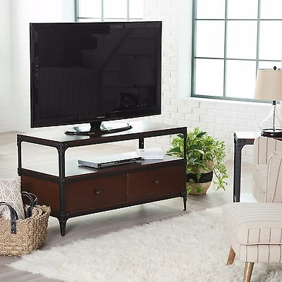 Modern Industrial Rustic Wood Metal Tv Stand Sofa Table Console