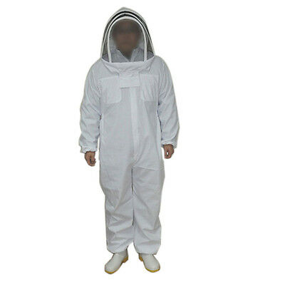 White Cotton Professional Protective Beekeepers Clothing Bee Suit with Fencing V