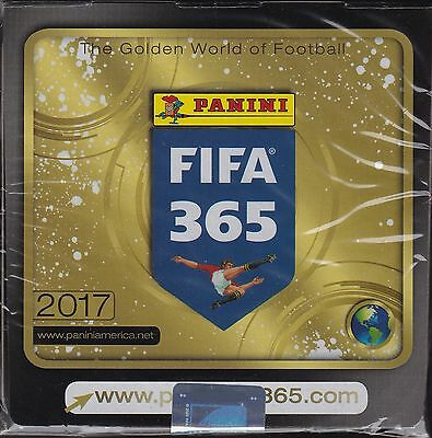2017 Panini FIFA 365 soccer stickers sealed unopened box 50 packs of 7 = 350