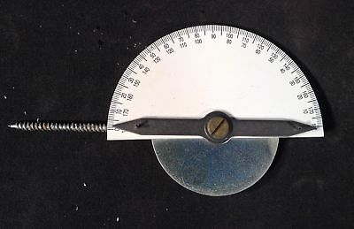 Gmp 01190 Protractor Pull Finder, Stainless Steel /W Cowhide Case
