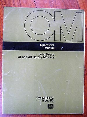 John Deere 41 48 Mower Operators manual 140 120 Tractor