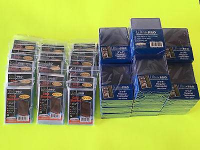 500 ULTRA PRO 3x4 Hard Plastic toploaders & 1600 soft sleeves BASEBALL POKEMON!!