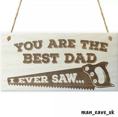 Funny Sign - Wooden Hanging Plaque  - Dad Gift - Man Cave - Garden - Novelty