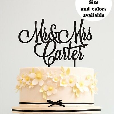 cake topper Custom Personalized Mr and Mrs Hochzeit decor for wedding gold