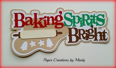 Craftecafe Mindy Christmas Baking title  premade paper piecing scrapbook page
