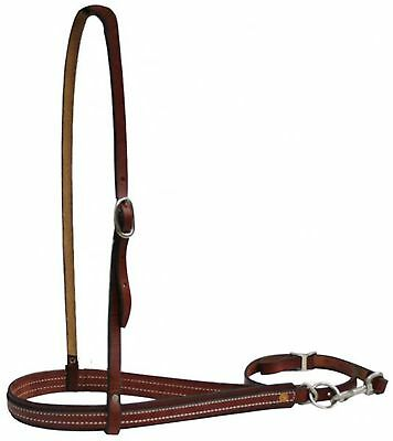 BURGUNDY American Made Leather Adjustable Noseband and Tiedown! NEW HORSE TACK!