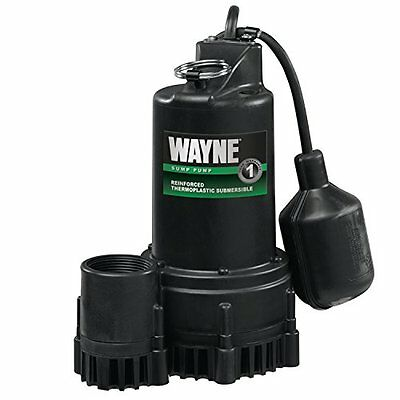 WAYNE RSP130 1/3 HP Thermoplastic Sump Pump With Tether Float Switch