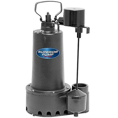 Superior Pump 92511 1/2 HP Cast Iron Sump Pump with Vertical Float Switch