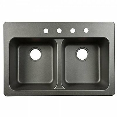 Kindred FTB904BX Double Bowl Sink 9-Inch Deep, Black