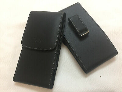 Black Leather Case Vertical Holster Belt Clip Pouch For Iphone 8 Plus 7 Plus