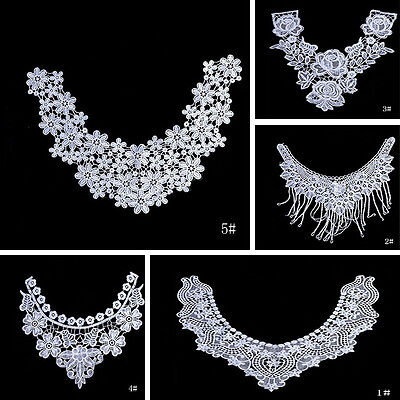Lace Embroidered Floral Collar Neckline Trim Clothes Sewing Applique Accessories