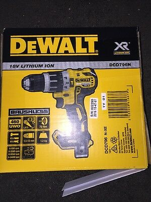 DeWalt XR 18v Brushless Hammer Drill Driver DCD796 NEW Latest Model