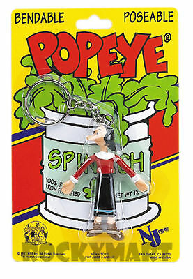 OLIVE OYL ( KEY CHAIN ) From Popeye Show - Bendable Toy Figure RM1770