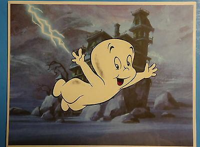 Hand Painted Halloween Casper The Friendly Ghost Animation Cel Cell Art
