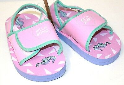 Little Girl's Billabong Seahorse Sandals / Shoes, Size 7,9,10. NWT, RRP $19.95.