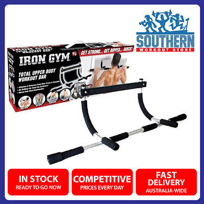 Door Pull Chin Push Up Bar Upper Body Workout Fitness Strength Training Iron Gym