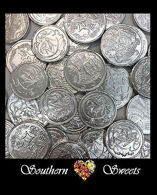 Silver Lollies Silver Foiled Milk Chocolate Coins 750G Approx 100Peices