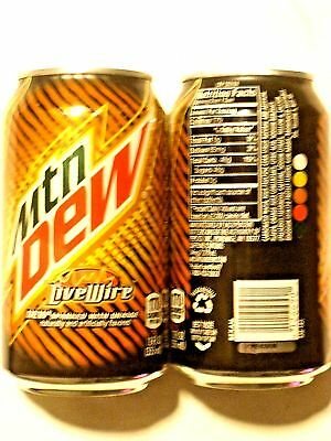 FULL12 oz American Can MTN MOUNTAIN DEW LIVE WIRE SPARKED with ORANGE