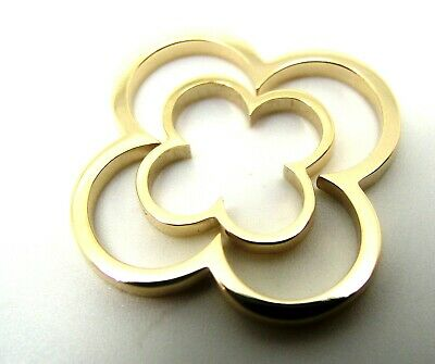 NEW GENUINE SOLID 9CT 9KT YELLOW GOLD SMALL and LARGE FOUR LEAF CLOVER PENDANT