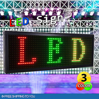 RGY 40''x15'' Outdoor LED Sign Programmable Scrolling Message Board