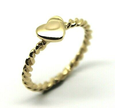 Kaedesigns New Solid 9Ct Yellow Gold Heart Signet Twisted Band