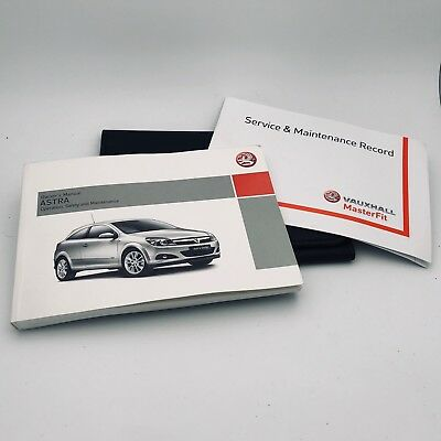 VAUXHALL ASTRA TWINTOP SERVICE BOOK HANDBOOK & WALLET PACK -  2005 To 2012