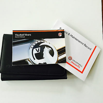 VAUXHALL NEW VIVARO SERVICE BOOK HANDBOOK & WALLET PACK FROM 2014 Brand New