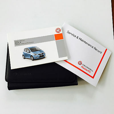 VAUXHALL AGILA SERVICE BOOK HANDBOOK & WALLET PACK -  2008 To 2012 NEW
