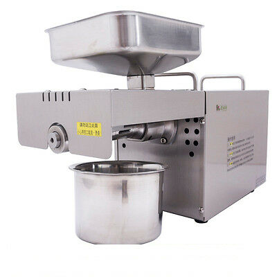 Automatic Oil Extractor Nut Seeds Olive Oil Expeller Oil Press machine 110V