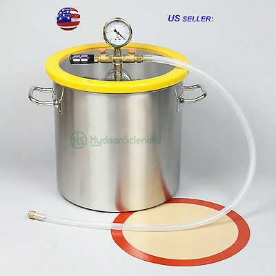 5 Gallon 300mm Stainless Steel  Vacuum & Degassing Chamber