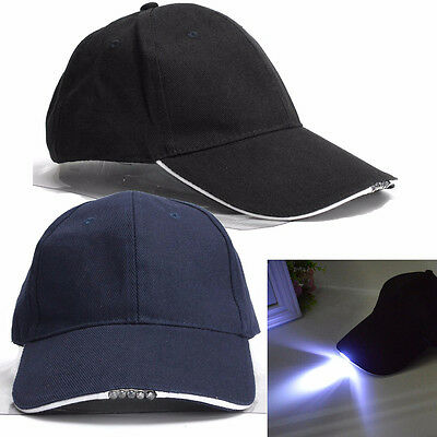 Outdoor 5-LED Light Unisex Hat Sport Fishing Hat Camping Running Baseball Cap