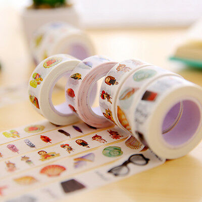 1Roll DIY Paper Sticky Adhesive Sticker Photo Adhesive Decorative Tape Random