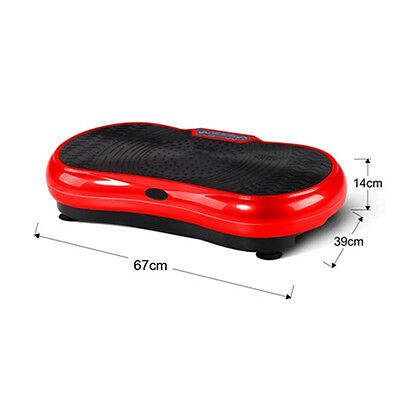 Ultra Slim Vibration Fitness Machine Platform Body Shaper Exercise Massager Red