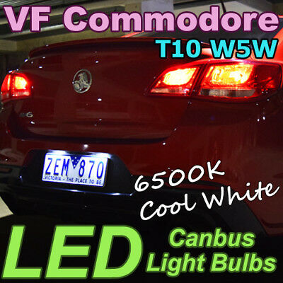 CANBUS Error-Free LED Number Plate White Rego Light Bulb for Holden VF Commodore