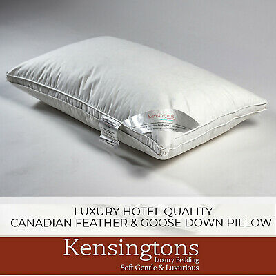 Kensingtons 2 x Hungarian Goose Feather & Down Luxury Hotel Quality Pillow Pair