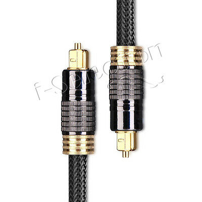 0.5m Premium Toslink Fibre Optical Cable Gold Plated PS3 PS4 Xbox One Apple TV
