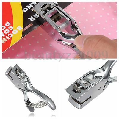 Hand Slot Puncher Machine Certificate Photo Badge ID Card Hole Punch Tool Metal