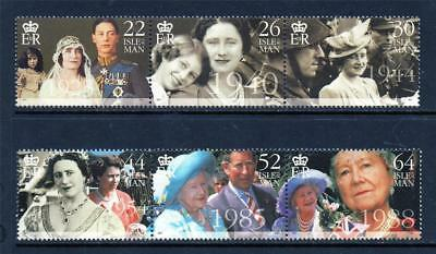 Isle Of Man Mnh Stamp Set 2000 Queen Mother Centenary Sg 875-880