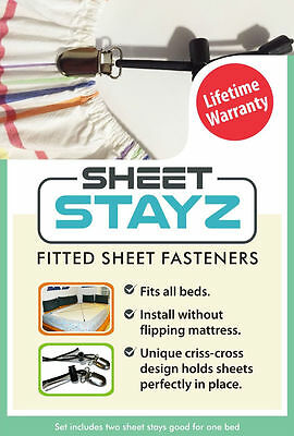 Sheet Stays - Criss Cross Fitted Sheet Fasteners