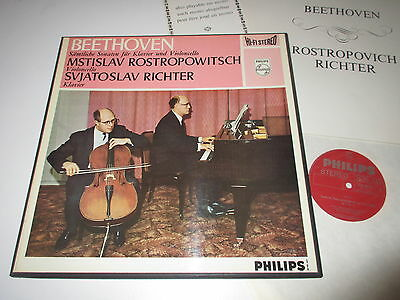 2 LP BOX/BEETHOVEN/ROSTROPOWITSCH/RICHTER/Philips Hi-Fi Stereo 835 183 AY +Inser