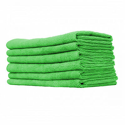 72 pack new microfiber towels cleaning plush 15x15 300 gsm lintfree  green