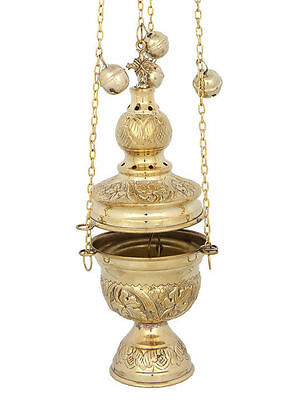 Quality Brass Greek Russian Orthodox Christian Church Liturgical Thurible Censer