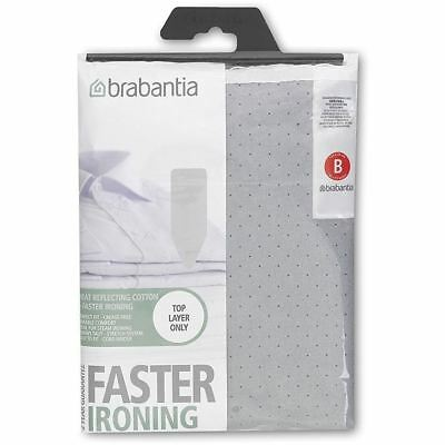 Brabantia Metalised Silver Ironing Board Cover Size B 124 x 38cm