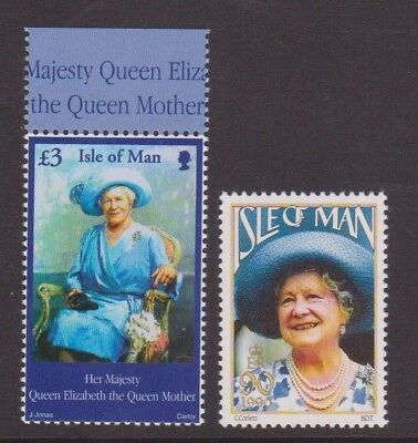 Isle Of Man Mnh Stamps 1990 2002 Queen Mother Stamps Sg 982 + 448
